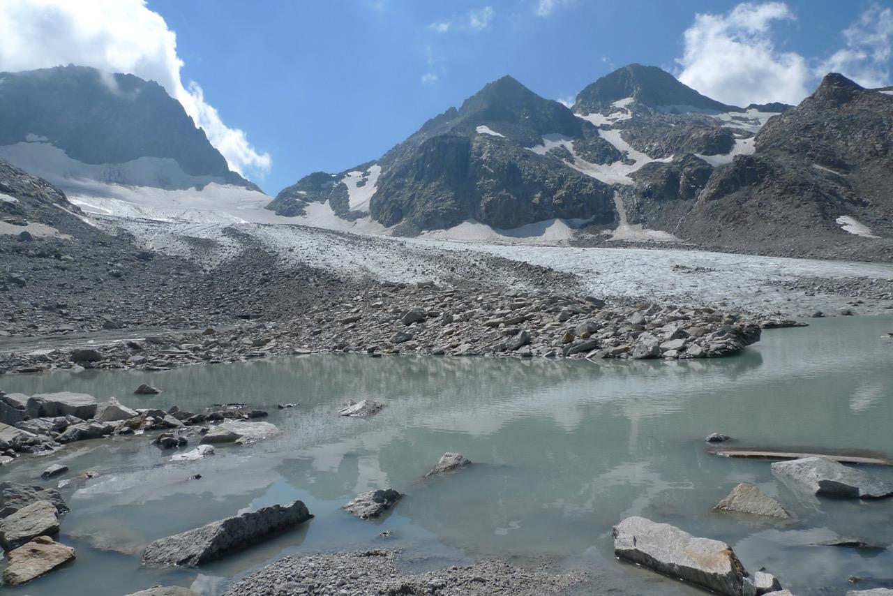 Am Gletscherende des Witenwassergletschers