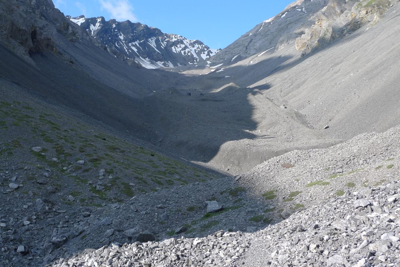 Blockgletscher im Val Sassa
