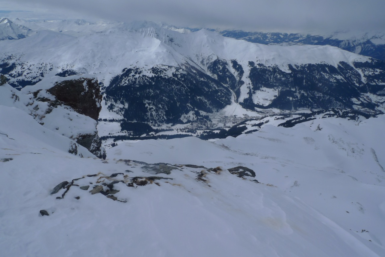 Blick vom Gipfel nach Parpan