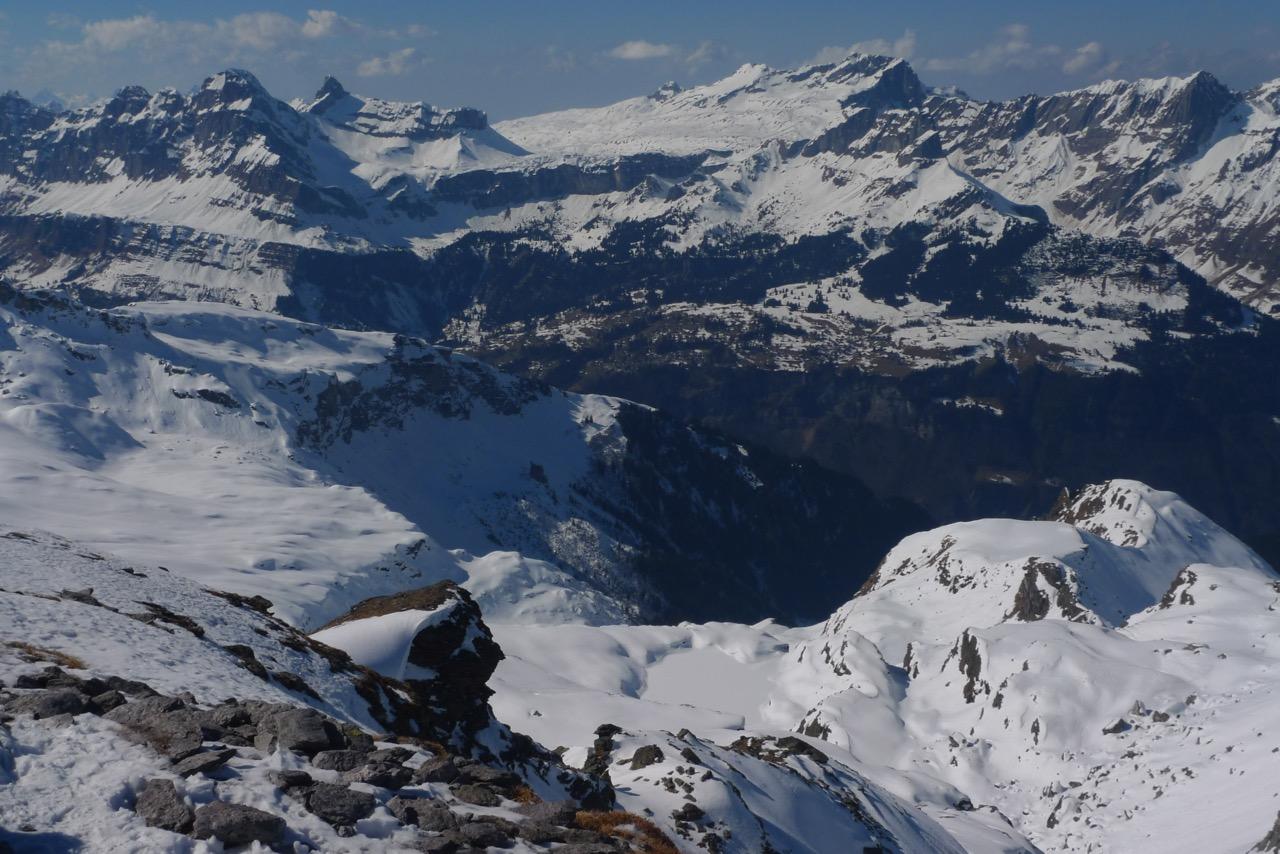 Blick vom Gipfel Richtung Braunwald