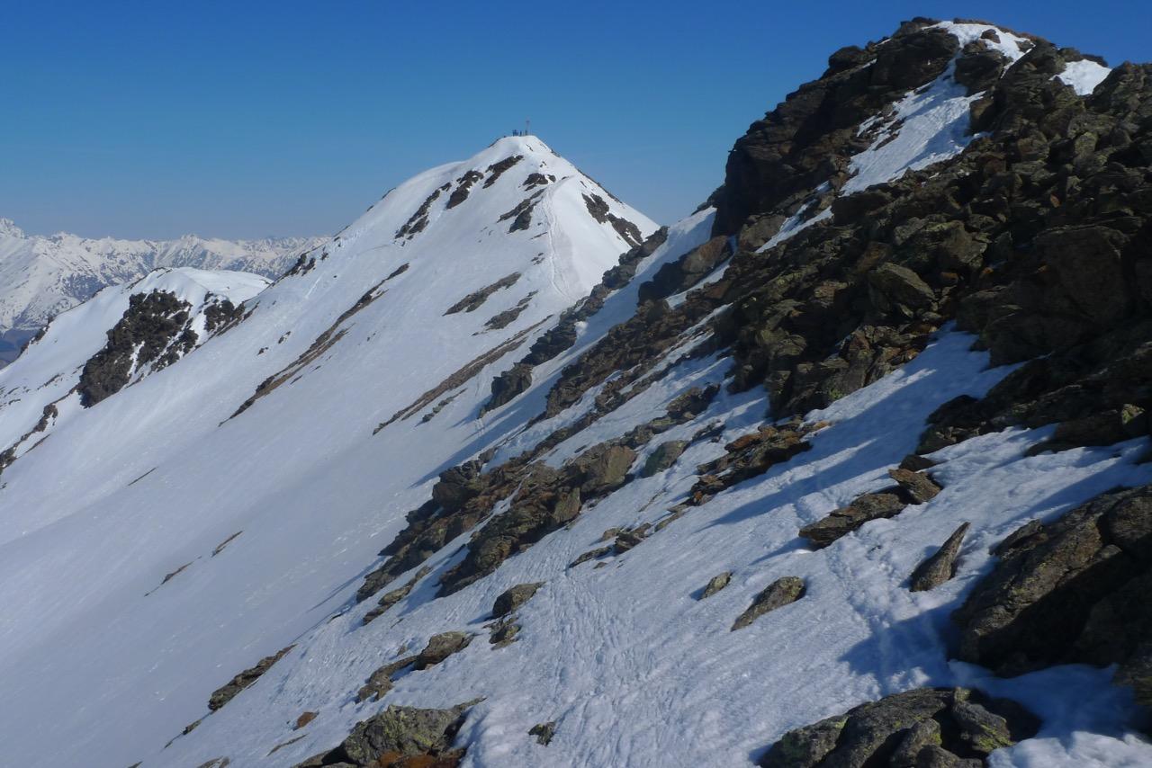 Kurz vor dem Gipfel der Rasassspitze