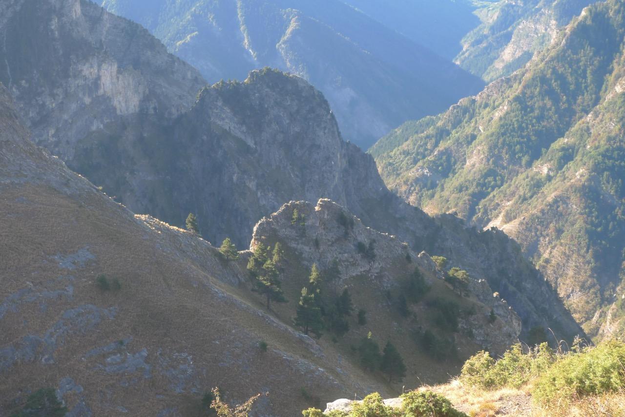 Steiles Zugangstal vom Valle Maira nach Elva