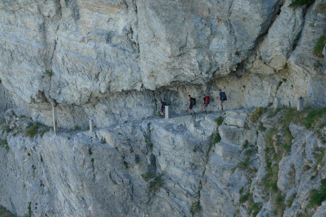 Spektakulärer Alpini-Steig am Monte Pietravecchia