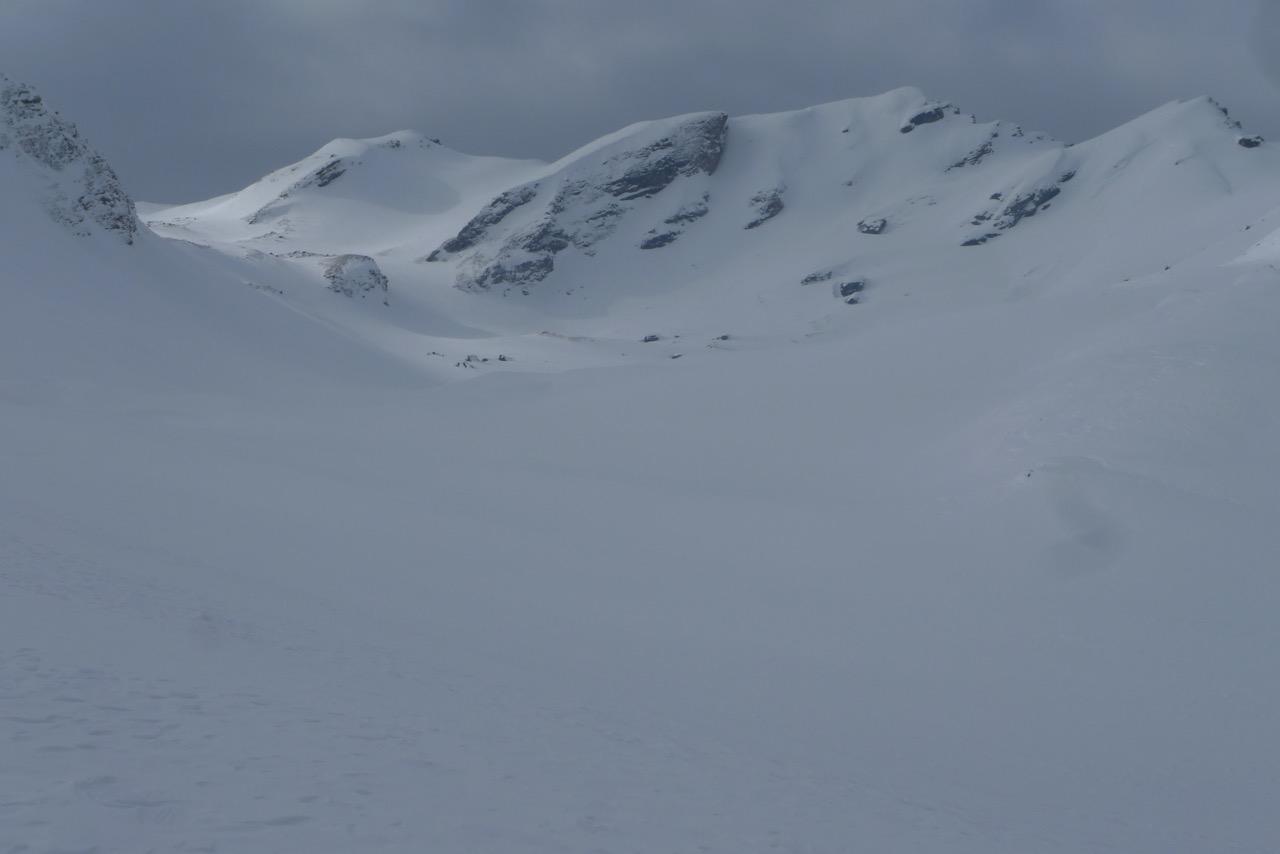 Vom Skigebiet Tschiertschen Richtung Parpaner Schwarzhorn