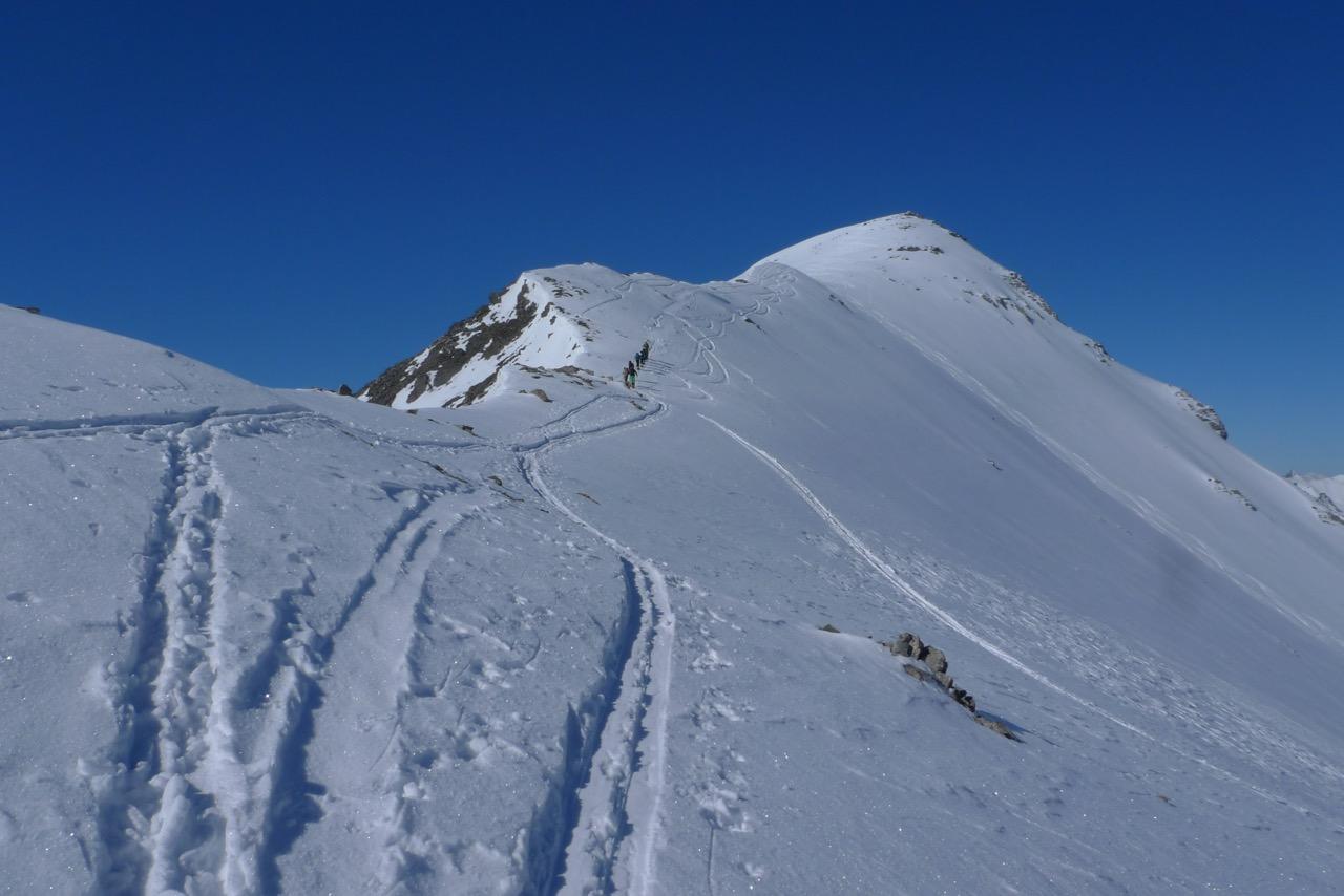 Gipfelgrat zum Igl Compass