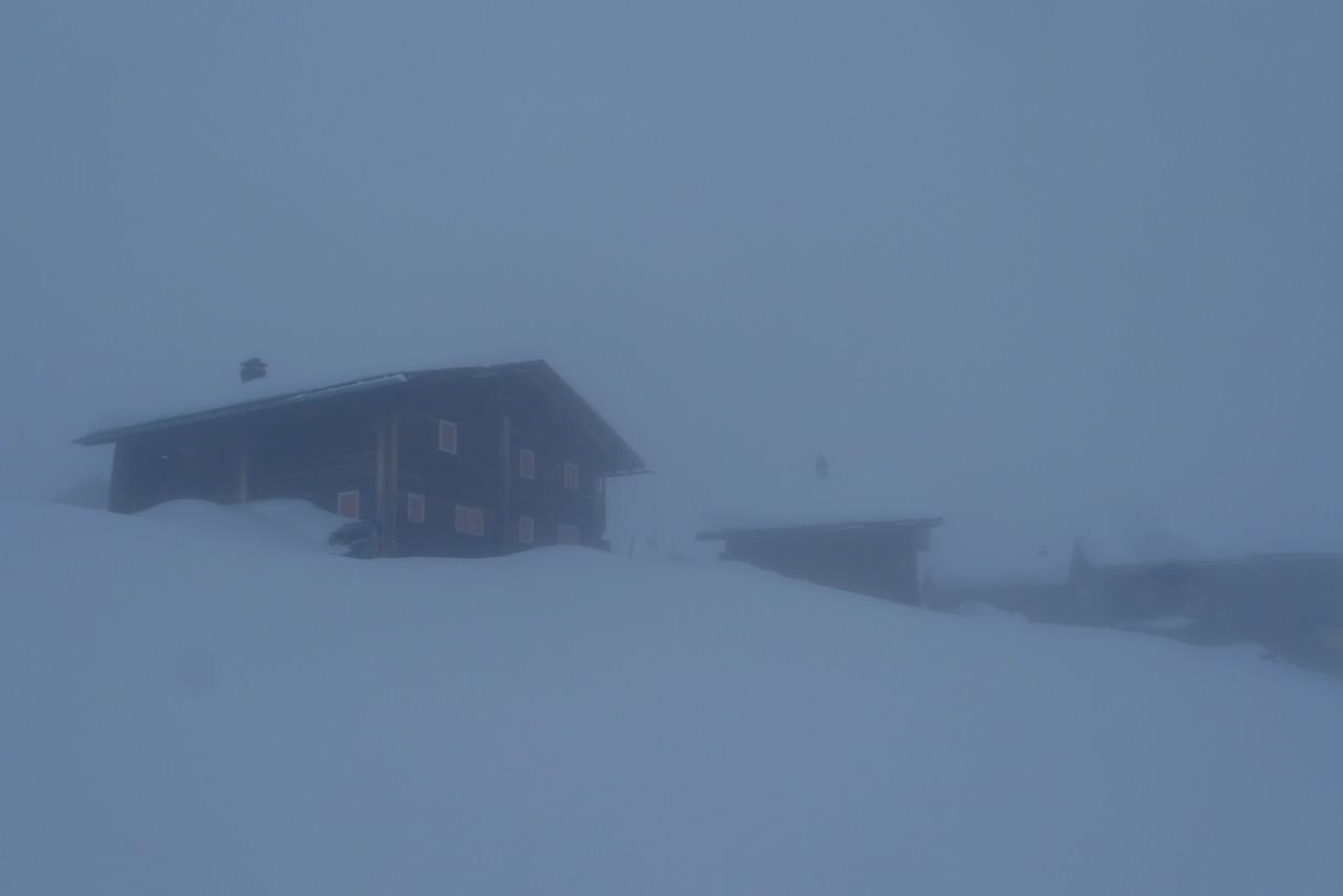 Fondei im Nebel