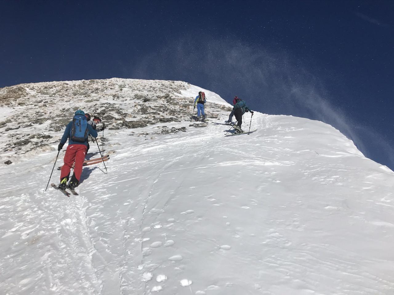 Gipfelanstieg zum Parpaner Schwarzhorn