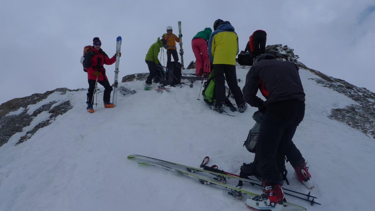 Auf dem Gipfel des Gletscherhorns