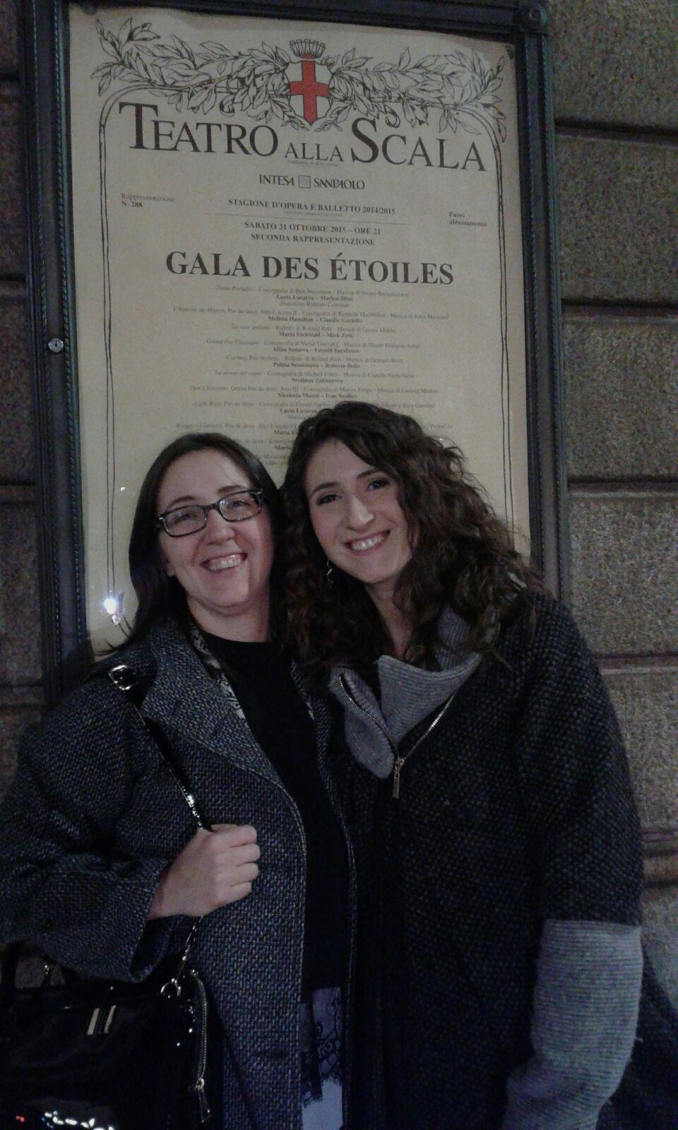 Federica e Stefania al Teatro alla Scala di Milano