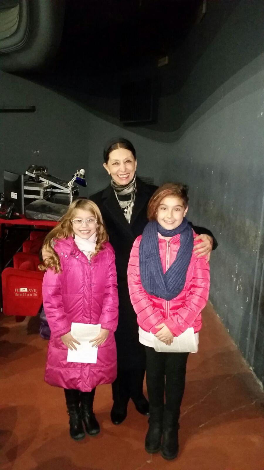 Elisa e Martina con l'etoile Liliana Cosi