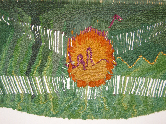 Ohne Titel, 1.05 - 0.65, Wolle, Seide,1985