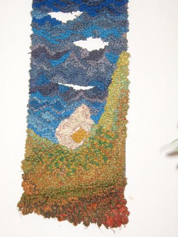Beginn 0.36 - 0.88, Wolle Seide, durchbrochen, 1983
