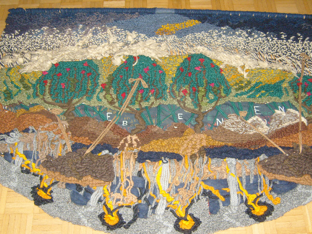 Ebenen, 1.70 - 1.20, Wolle, Dreidimmensional, 1984/85