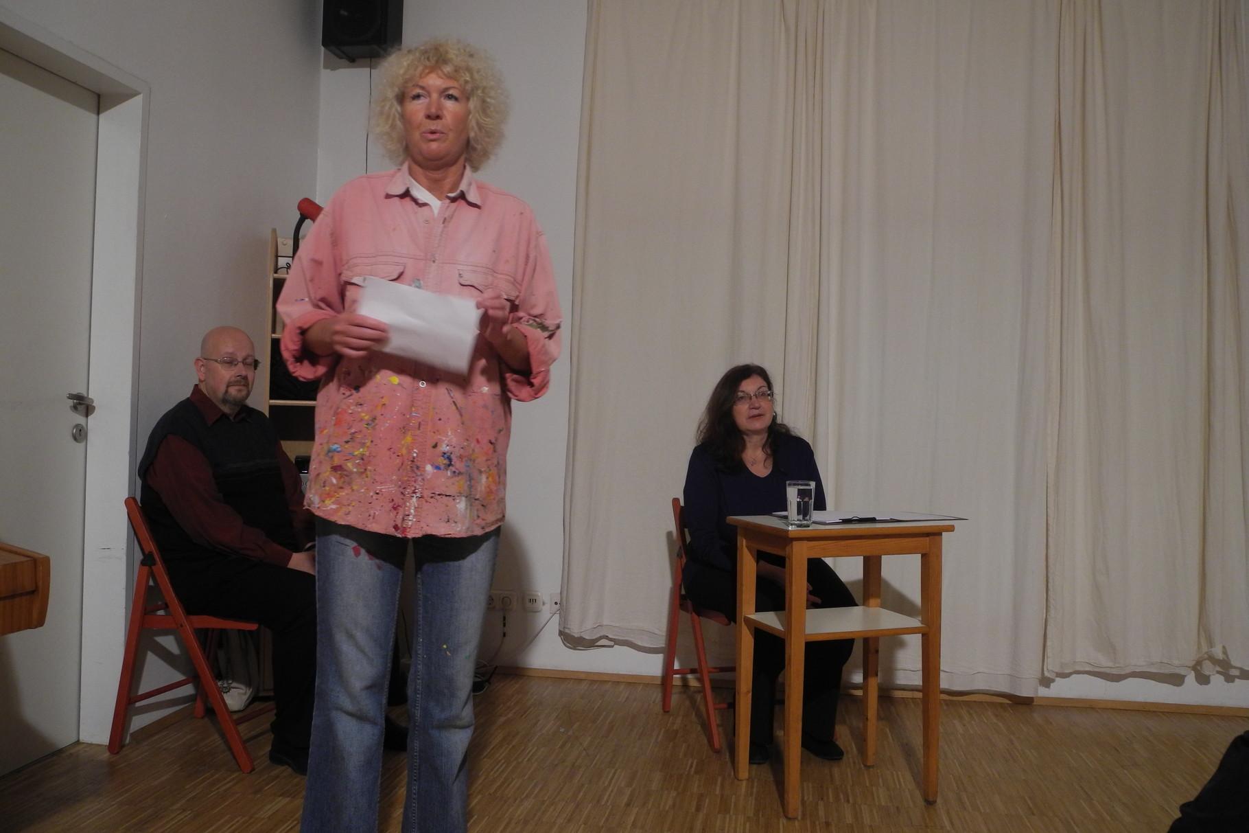 die Laudatorin Elisabeth Jane Gall