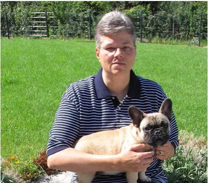 Annette mit Apache, French Bulldog aus eigener Zucht