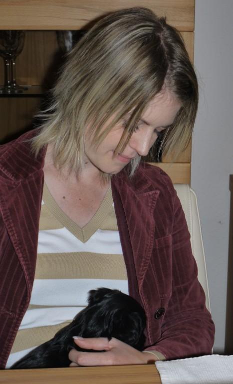 Nicole und ihr Blacky...