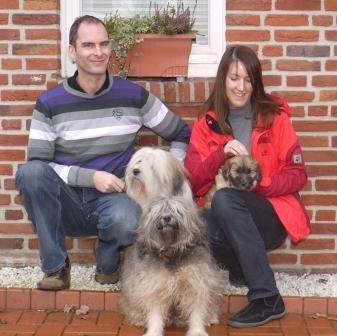 22.01.2011 Familie Storf mit Cooper, Chori und Chimpu