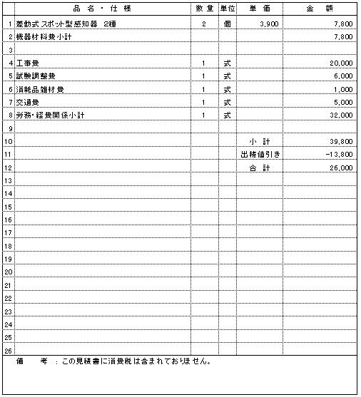 103 お寺 新潟市中央区 不作動感知器交換 ¥26,000