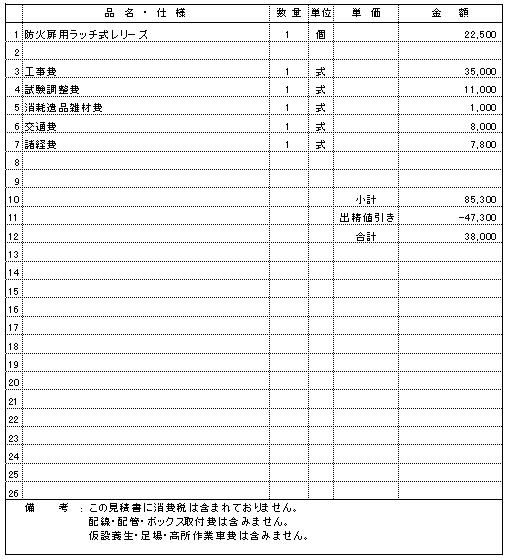 118 食品工場 胎内市 防火戸用ラッチ交換 ¥38,000