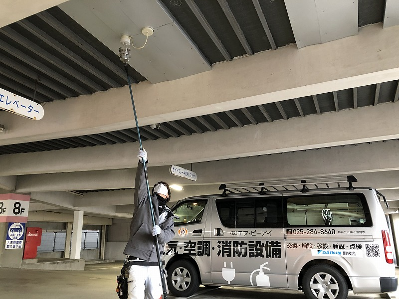 絶縁改修及び感知器改修工事(新潟市中央区|立体駐車場)