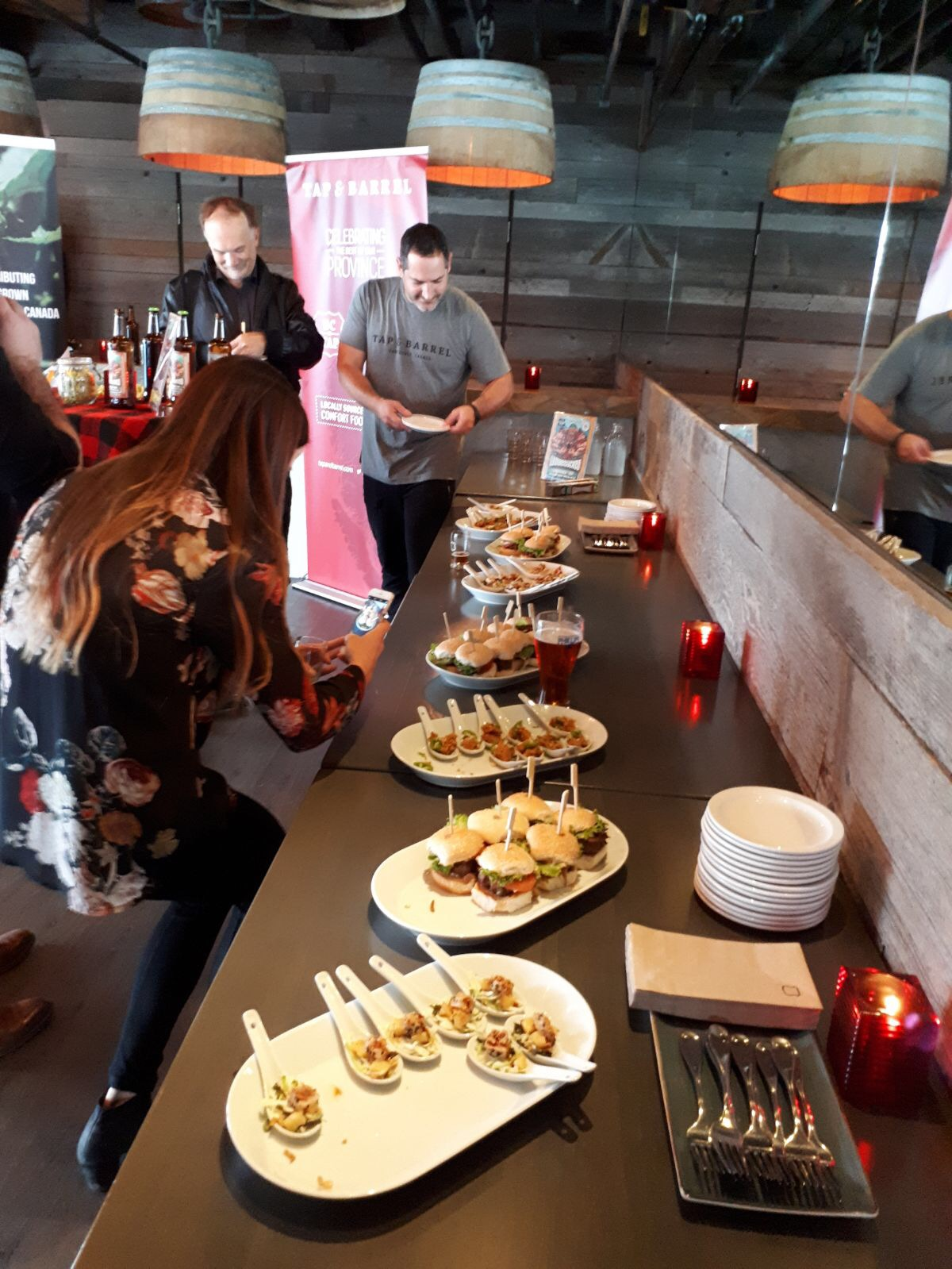 Tap & Barrel's delicious canapes