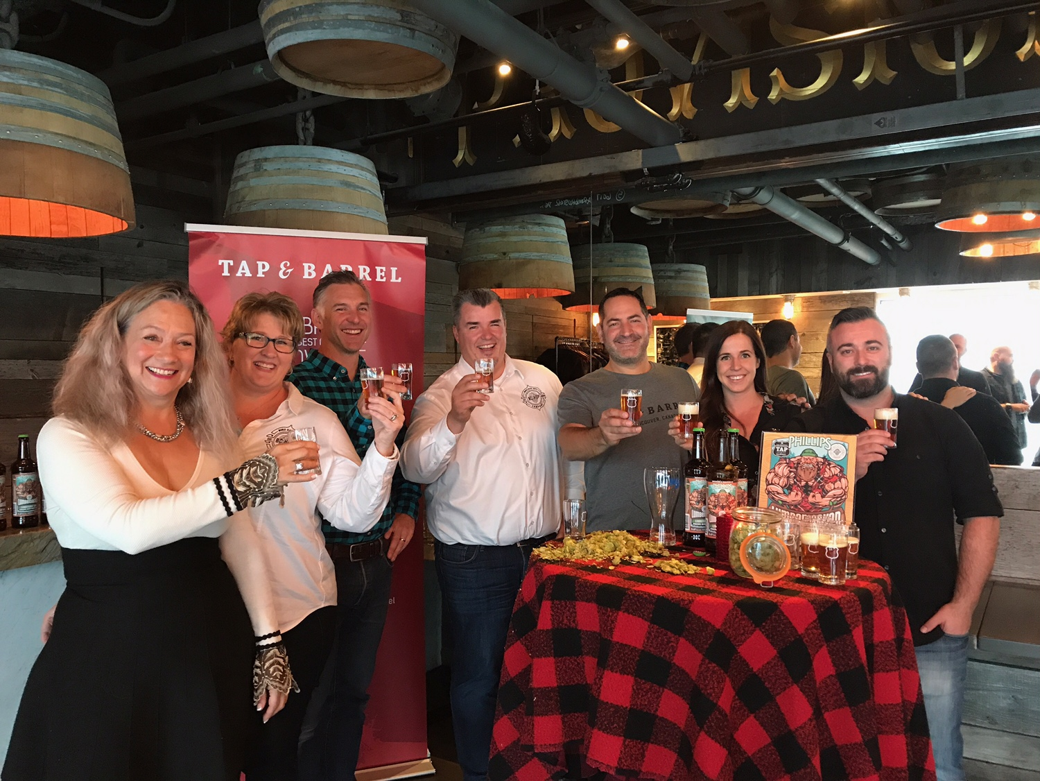 Cheers to the perfect made in BC collaboration and the passionate people who made it happen at Phillips Brewing & Malting, Tap& Barrel and BC Hop Co!!!
