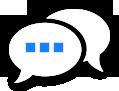 Grafik: Spruchblasen / igbv - nehmen Sie Kontakt mit uns auf