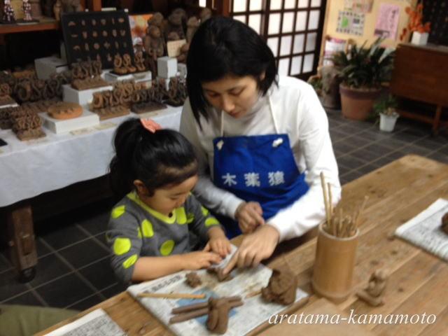 粘土教室体験ができます。世界に一つだけの作品を作ってみませんか。