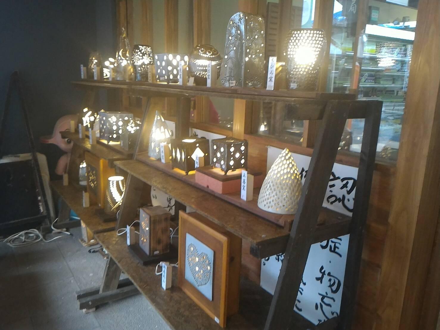 陶の灯り(ランプシェード)展