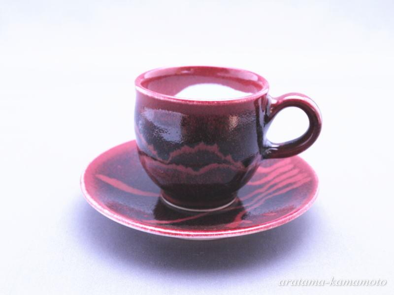 辰砂線文コーヒーカップ5000円