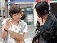 街頭での調査活動