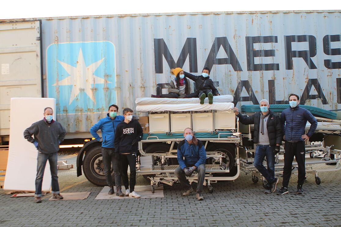Hilfstransport für Krankenhaus startet in Obernburg