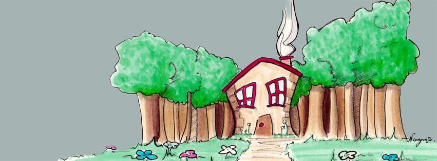 """Illustration pour l""""entreprise d'une couturière travaillant de chez elle"""