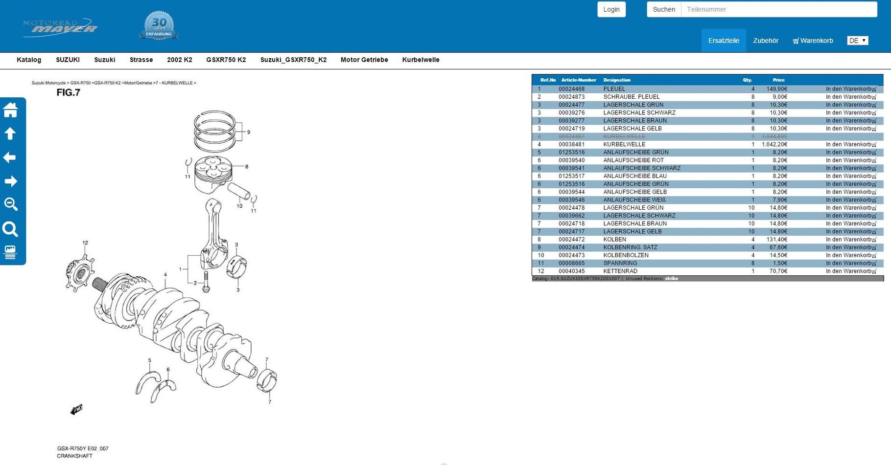 Kawasaki KX 65 KX65 2002-2014 DID Kette 420 D 108 Glieder NEU *