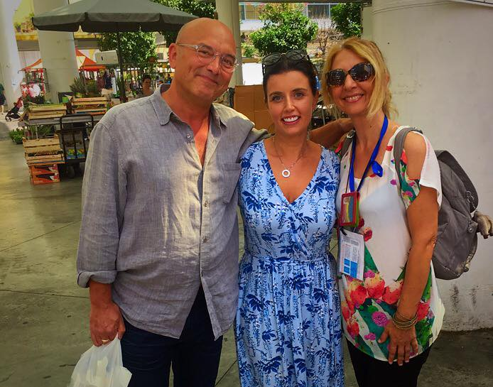 Uk Masterchef Judge Gregg Wallance and his beautiful wife. A special foody tour visit and photo workshop. End of summer 2018 Foody Market and around La Spezia, Liguria.