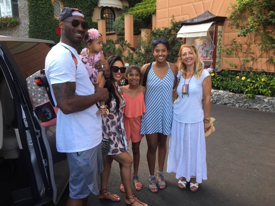 Basketball Champion Kobe Bryant and his beautiful family. Summer 2018 Portofino and Cinque Terre