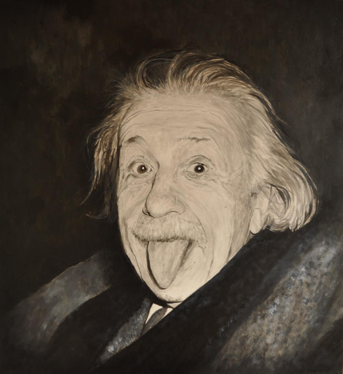 Albert Einstein (Acryl)
