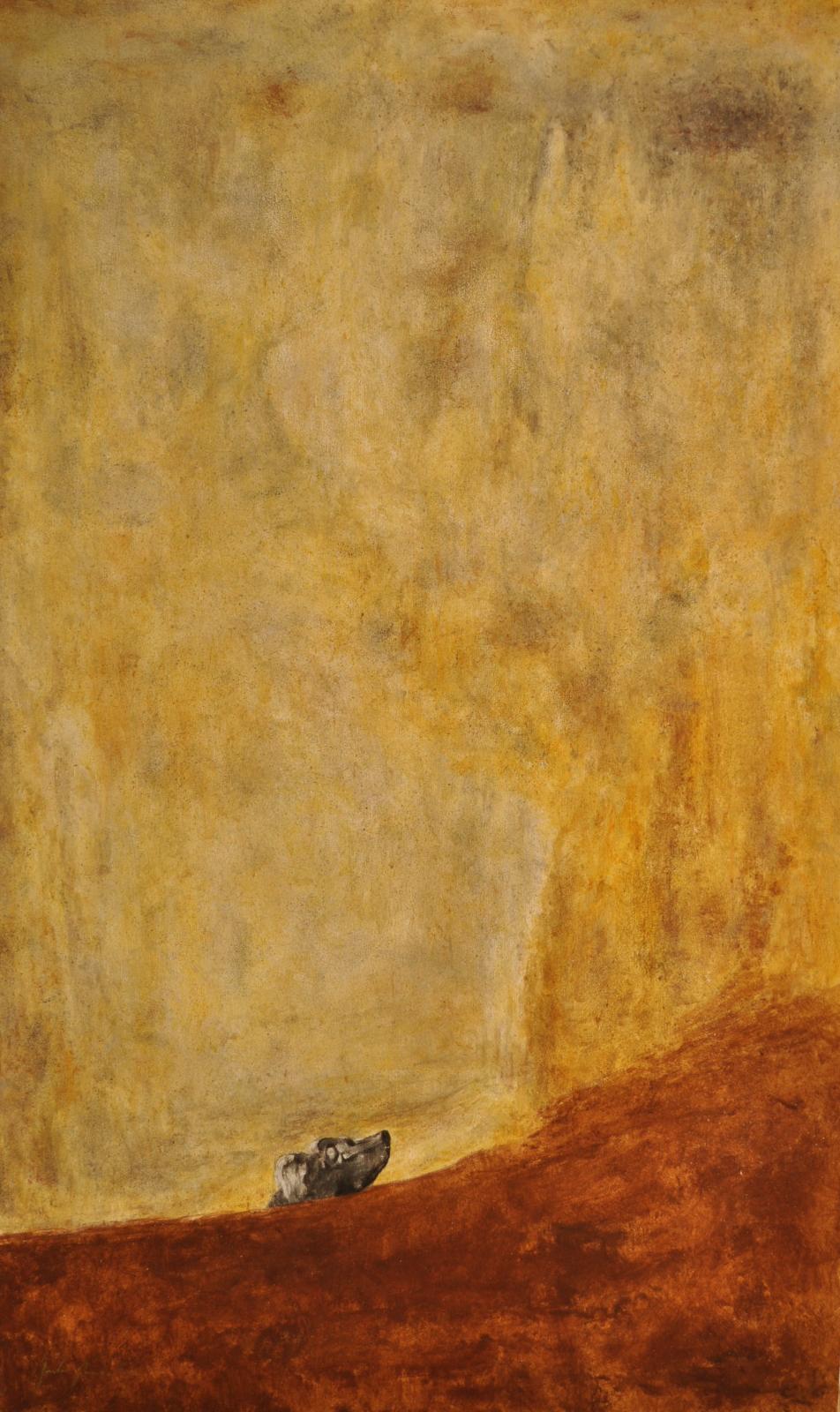 Der Hund. Goya (Acryl)