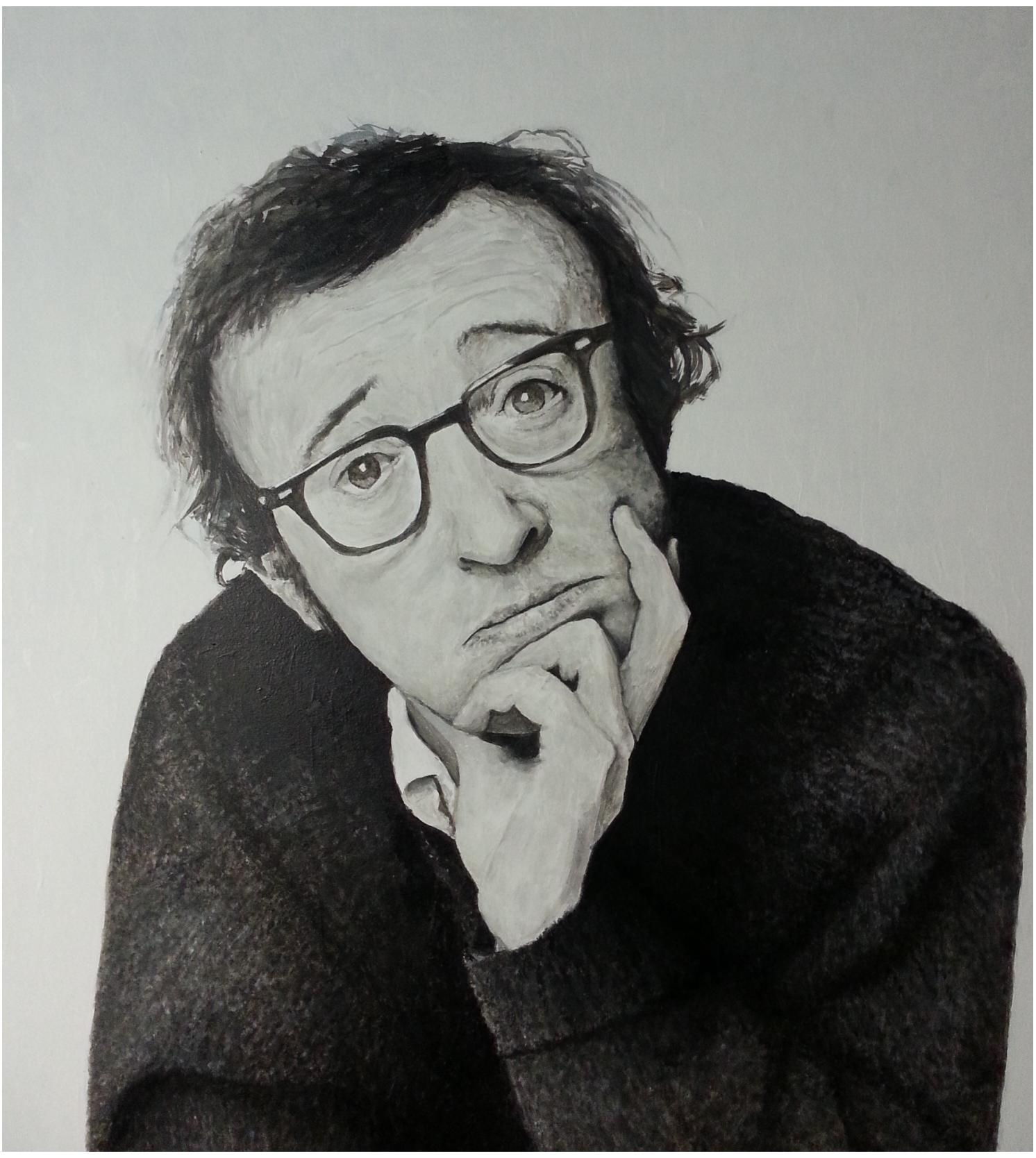 Woody Allen (Acrílico)