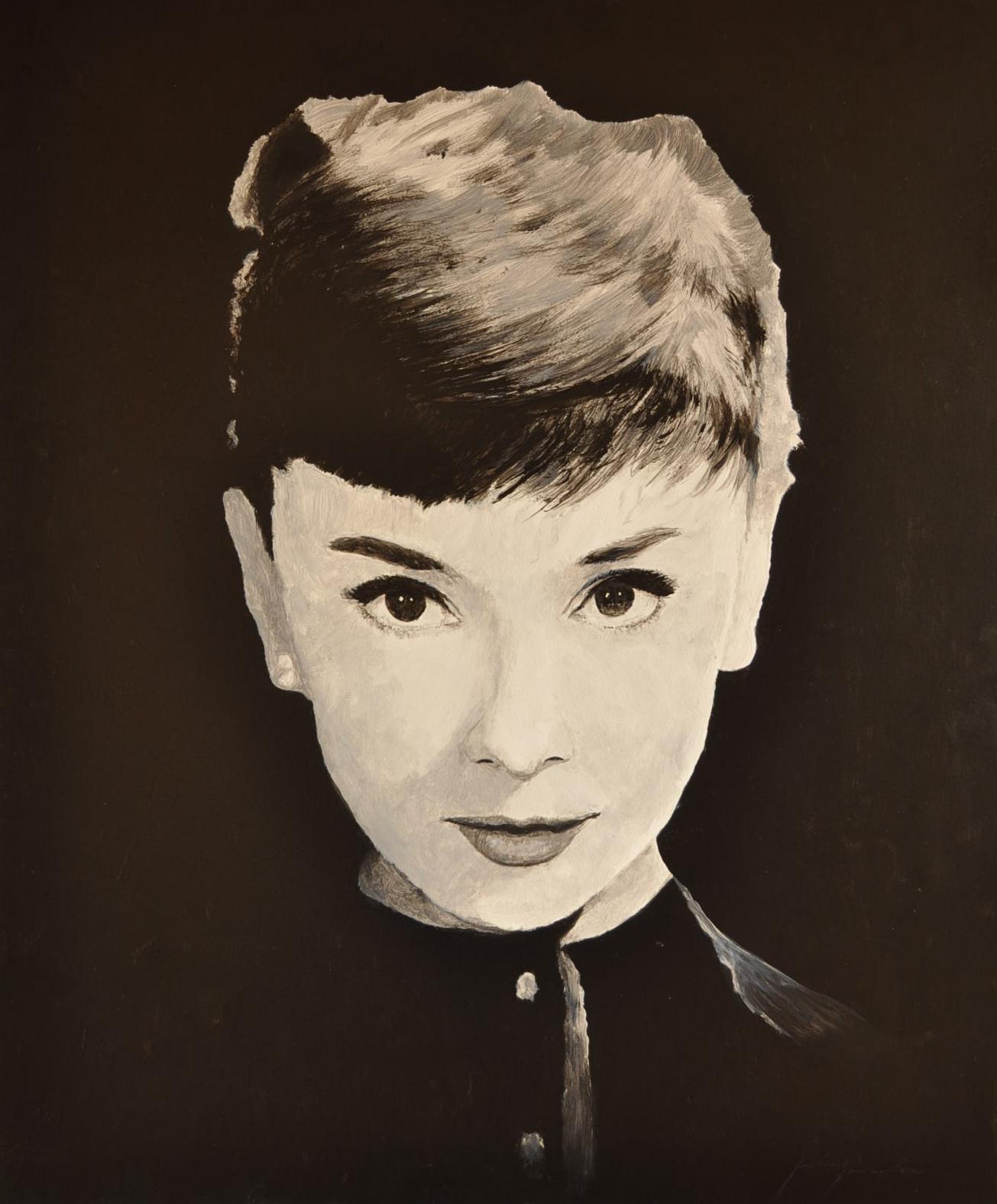 Audrey Hepburn (Acryl)