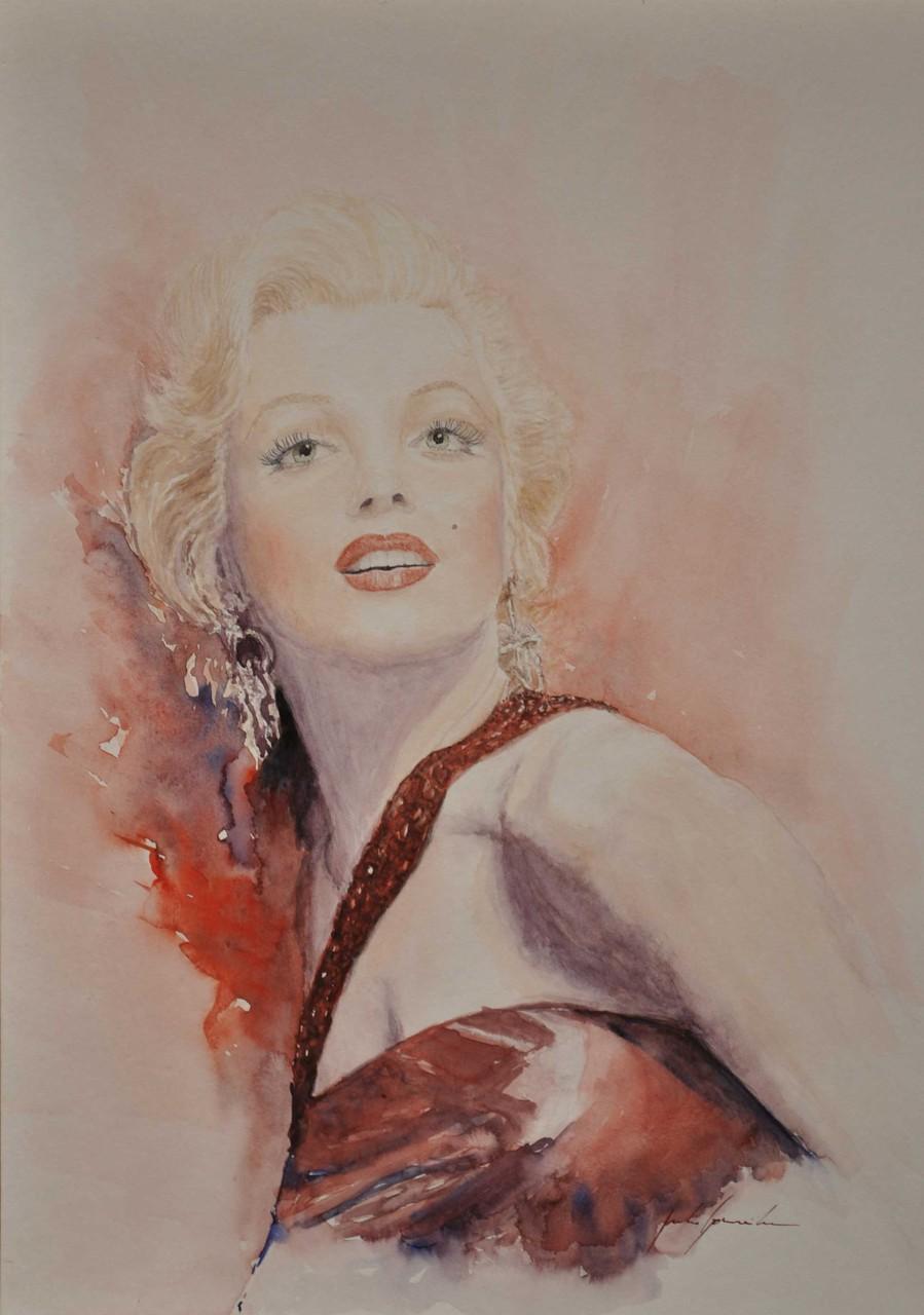 Marilyn Monroe (Acuarela)