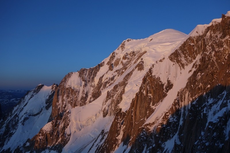 Mont Blanc im Morgenlicht.