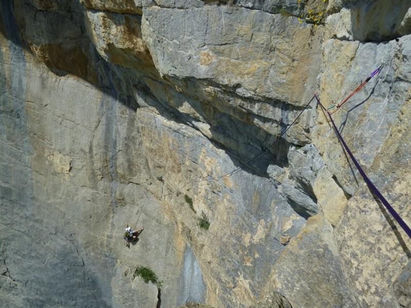 """Die """"Diagonale"""", Mehrseillängen-Kletterei über Kandersteg."""