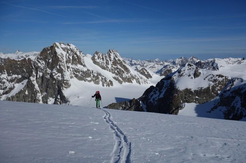 Die letzen Meter zum Gipfel der Tete de Valpelline.