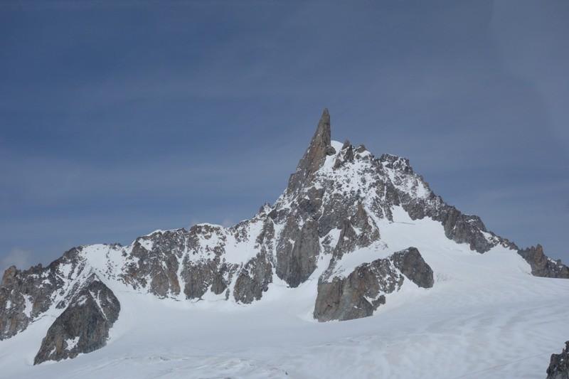 Dent du Géant von der Turiner Hütte aus gesehen.