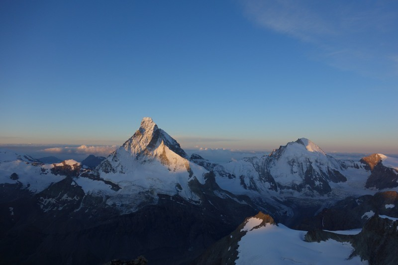 Matterhorn in der Morgensonne.