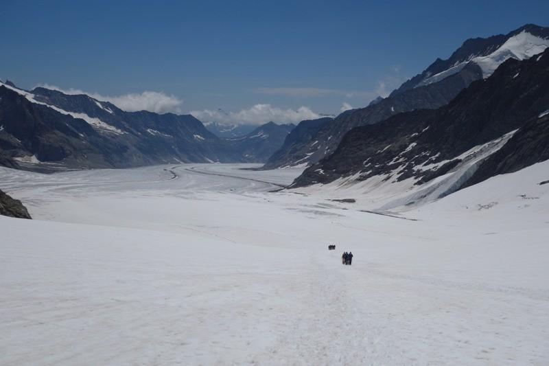 Unterwegs vom Jungfraujoch zum Konkordiaplatz.