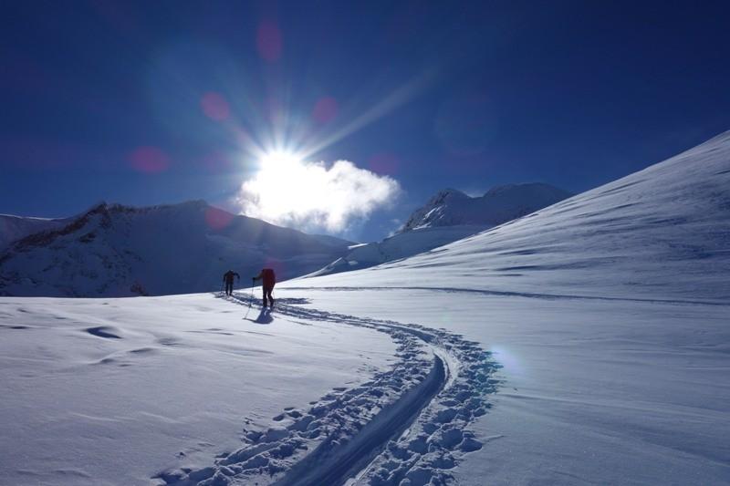 Skitour auf die Dufourspitze.