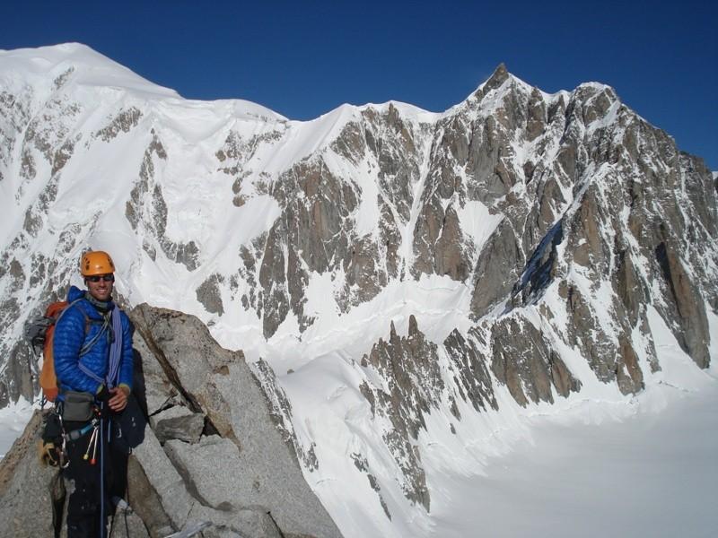 Blick hinüber zum Kuffnergrat mit Mont Maudit und Mont Blanc