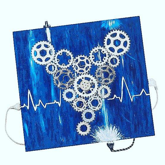 Elettric2uore, materiali riciclo. Reparto cardiologia Santa Chiara Pisa. 2016